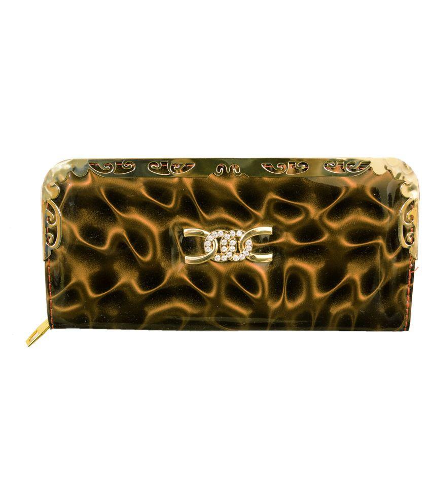 Amage Beige Non Leather Long Wallet for Women
