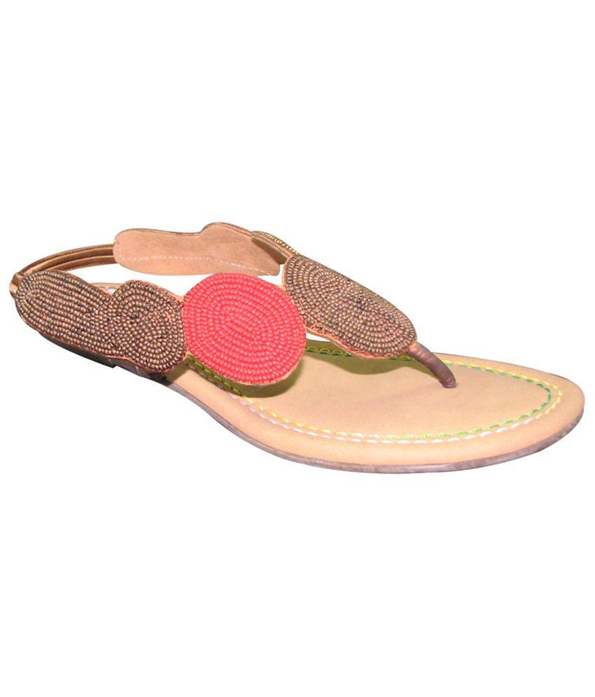 Faith Brown Flat Sandals