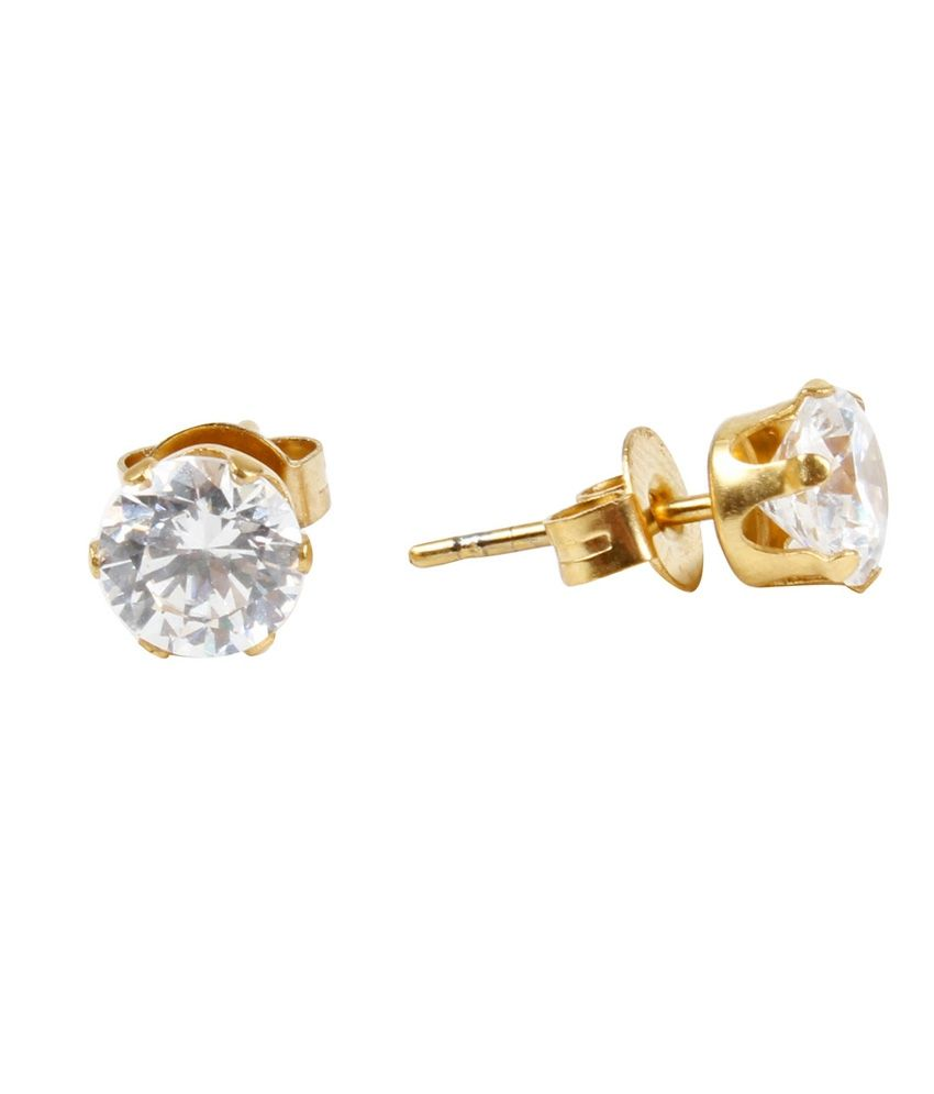 Jewels Galaxy Solitaire American Diamond Studs Earrings