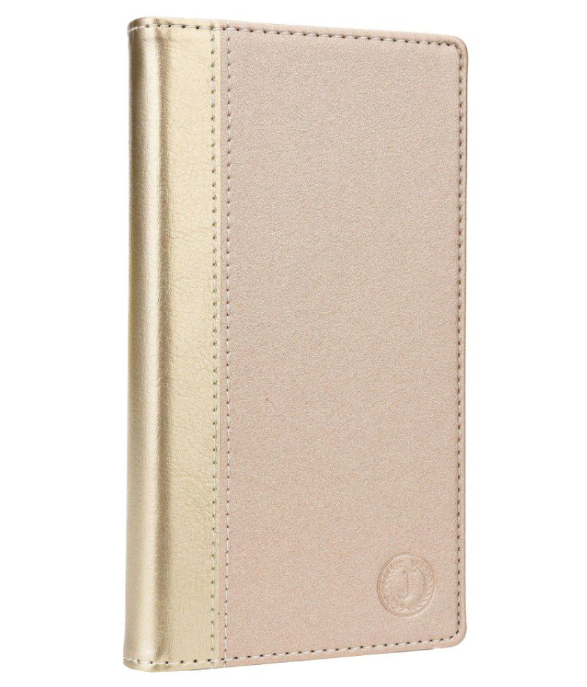Jo Jo Cover Millar Series Leather Pouch Flip Cover For Jivi JSP Q56 - Golden