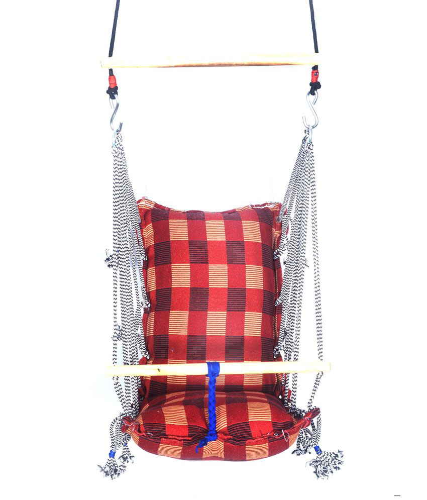 Kkriya home decor red fabric baby swing buy kkriya home for Snapdeal products home kitchen decorations