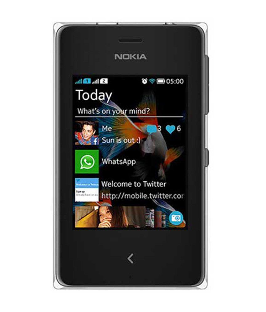 Nokia Asha 500 Dual Black available at SnapDeal for Rs.5005