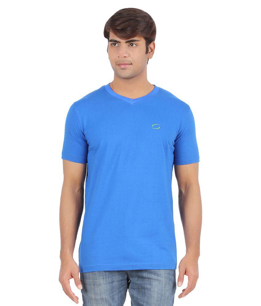 Ap'pulse Blue Cotton Sports T-Shirt
