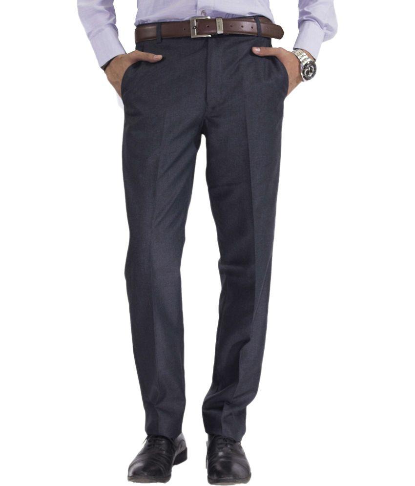 da188c5e0cafe7 Astral Blue Cotton Blend Regular Fit Formal Trouser - Buy Astral Blue  Cotton Blend Regular Fit Formal Trouser Online at Low Price in India -  Snapdeal