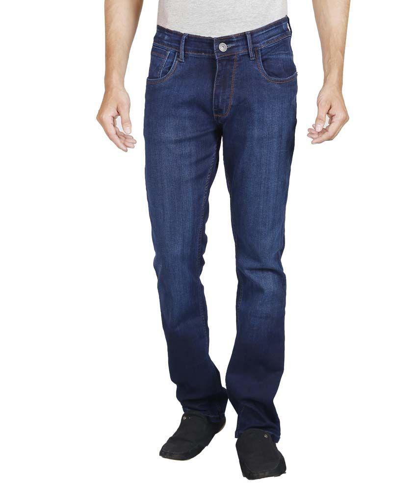 Elfried Blue Regular fit Faded Jeans