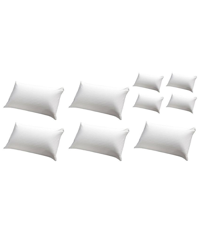 JDX White Hollow Fiber Pillow Pack Of 10