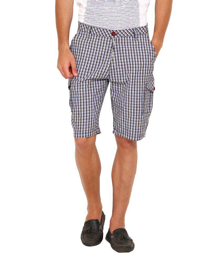 Wajbee Black Cotton Shorts