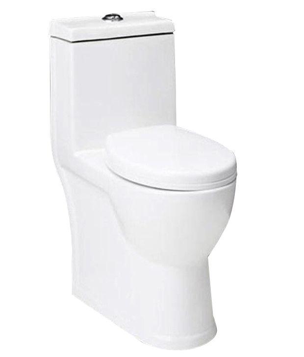 buy hindware one piece closet estella sw white s30 92083 online at low p. Black Bedroom Furniture Sets. Home Design Ideas