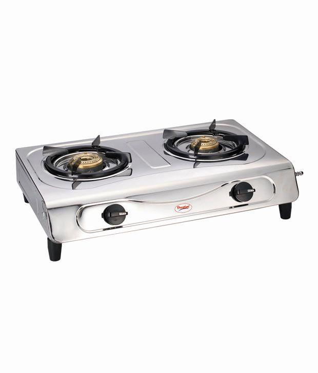 Prestige Shakti Deluxe SS 2 Burner Gas Coooktop