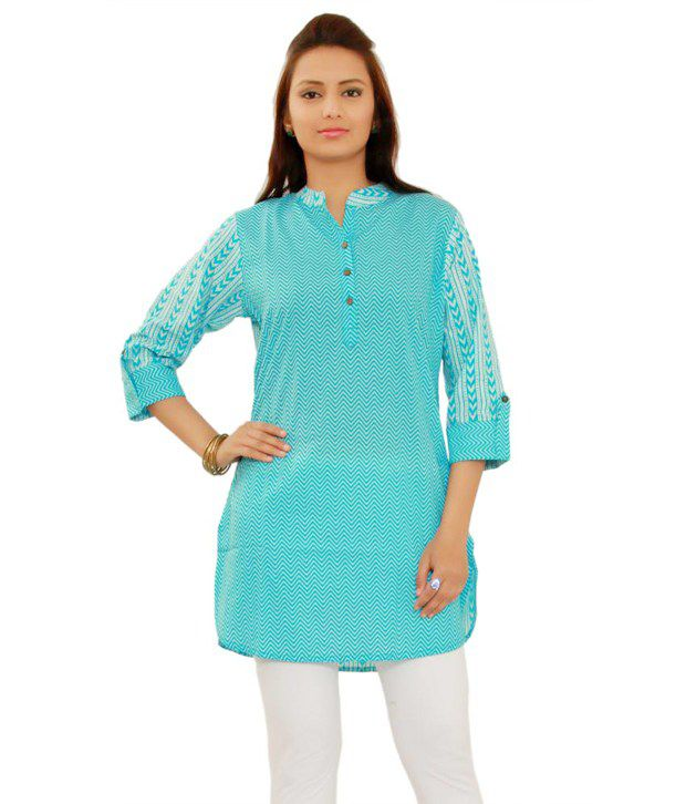 Salona Bichona Blue Cotton Kurti