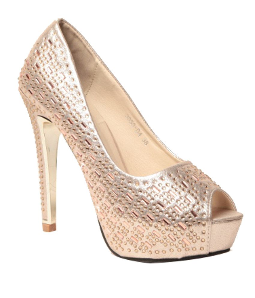 Anand Archies Modish Golden Pumps