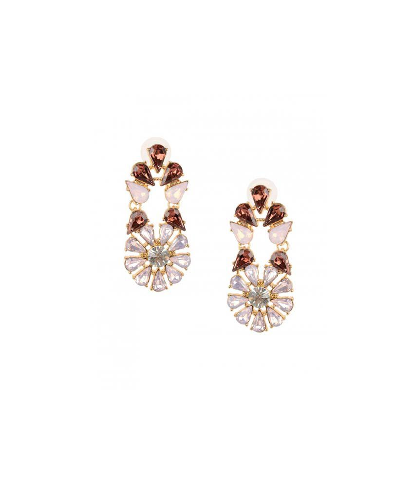 Oomph Maroon Led Free Alloy Hanging, Dangle Earring