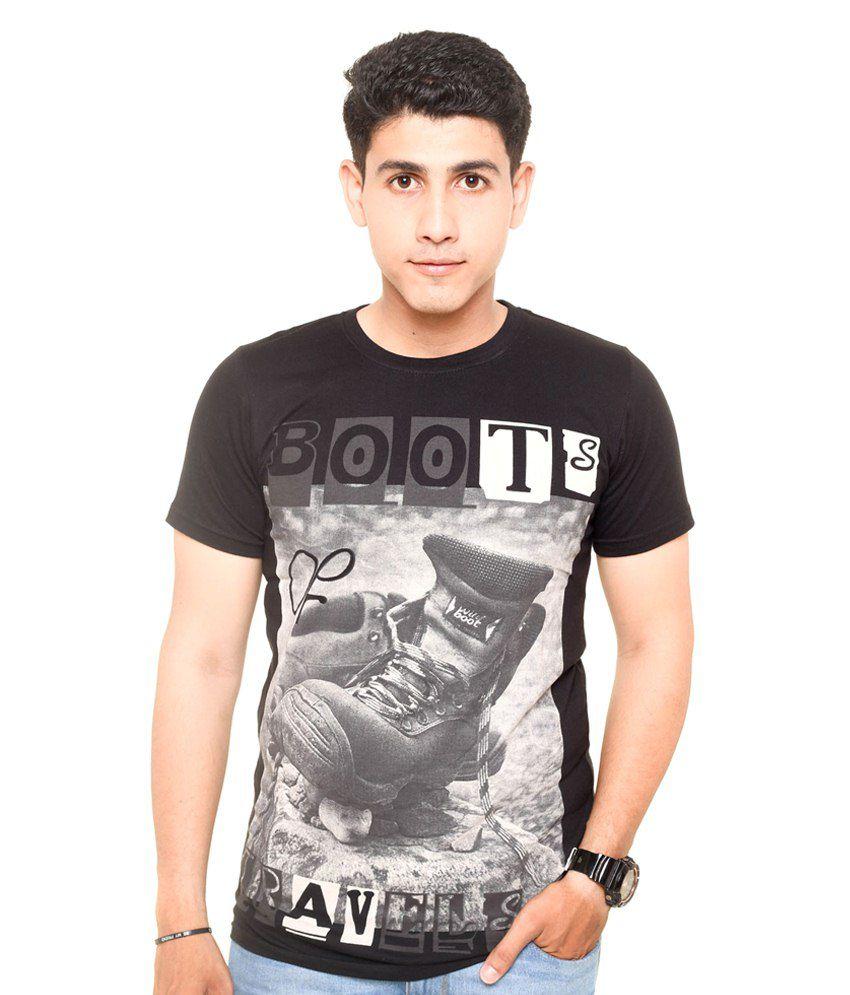 Zwizdot Black Cotton T Shirt