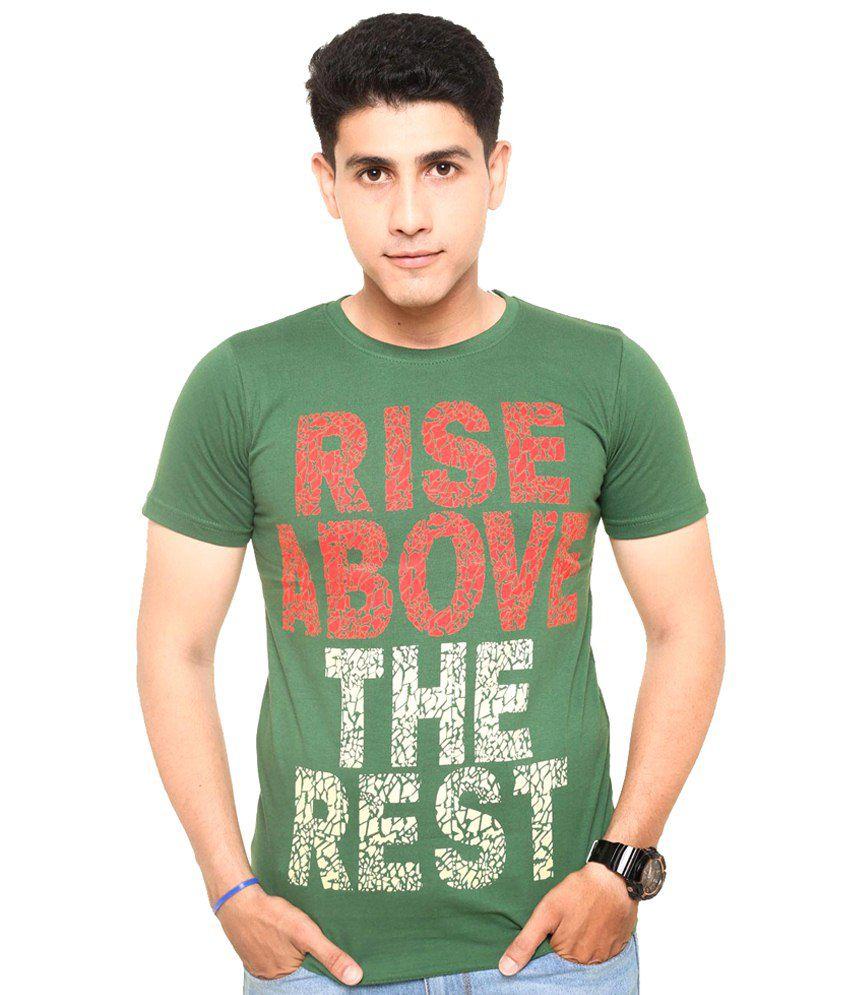 Zwizdot Green Cotton T Shirt