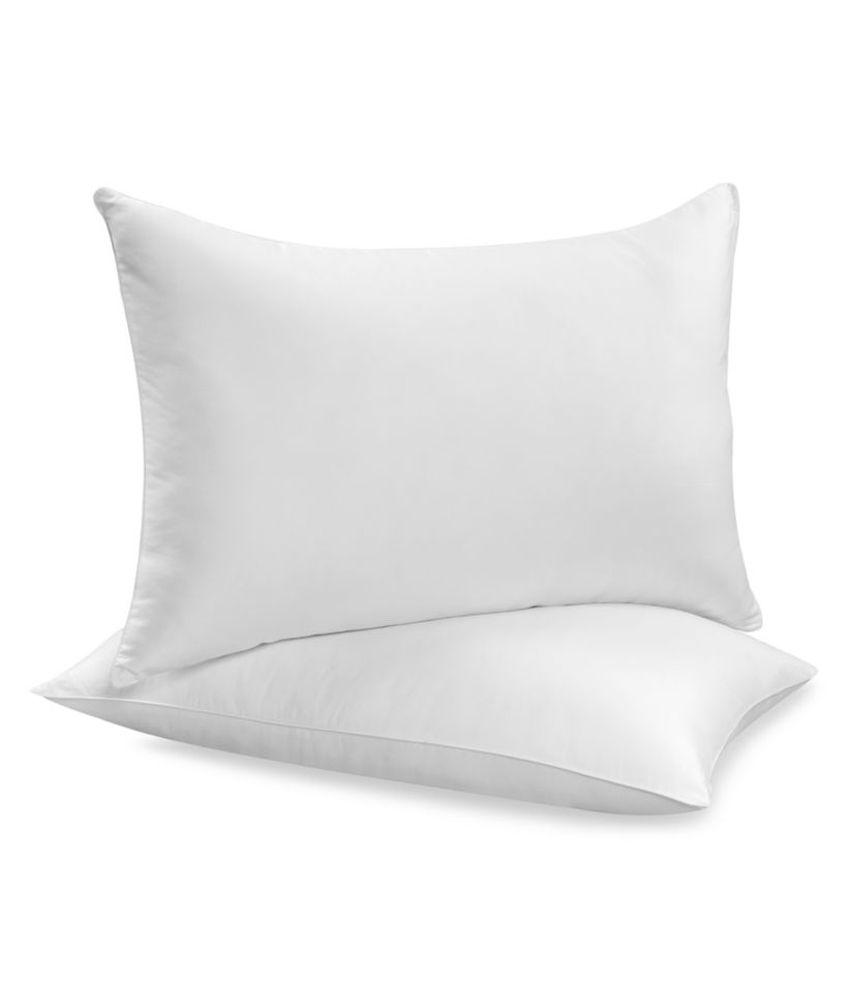 JDX White Polyester Fibre Pillow - 39x62