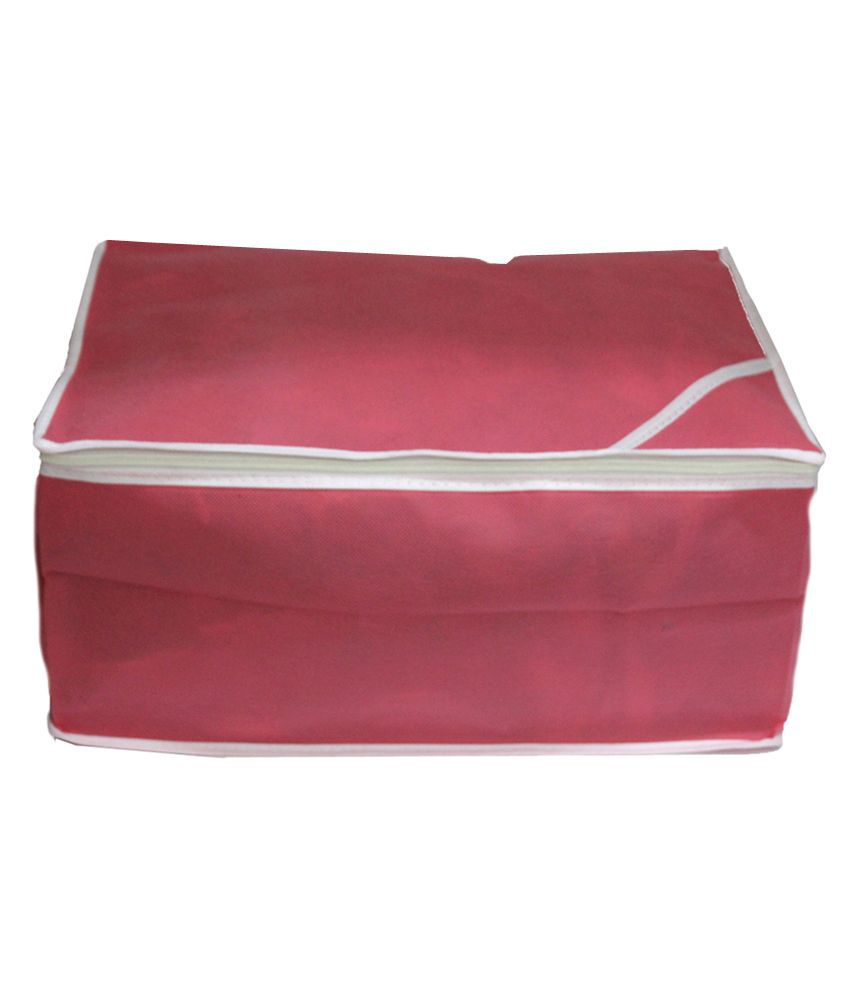 Ombags&more Pink Regular Saree Cover