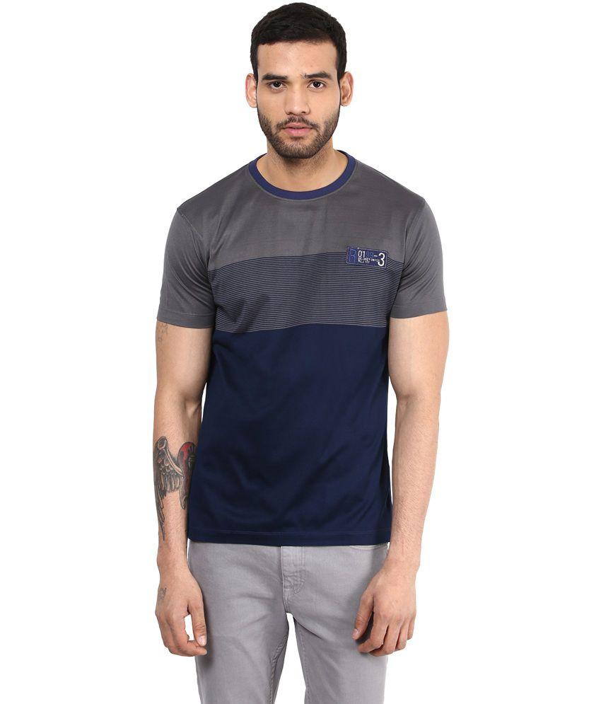 Richlook Cotton GrayRound T Shirt