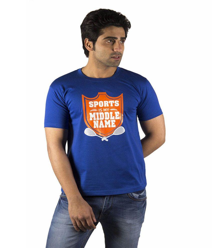 Schonheits Blue Cotton Blend T-shirts (Combo Of 2)