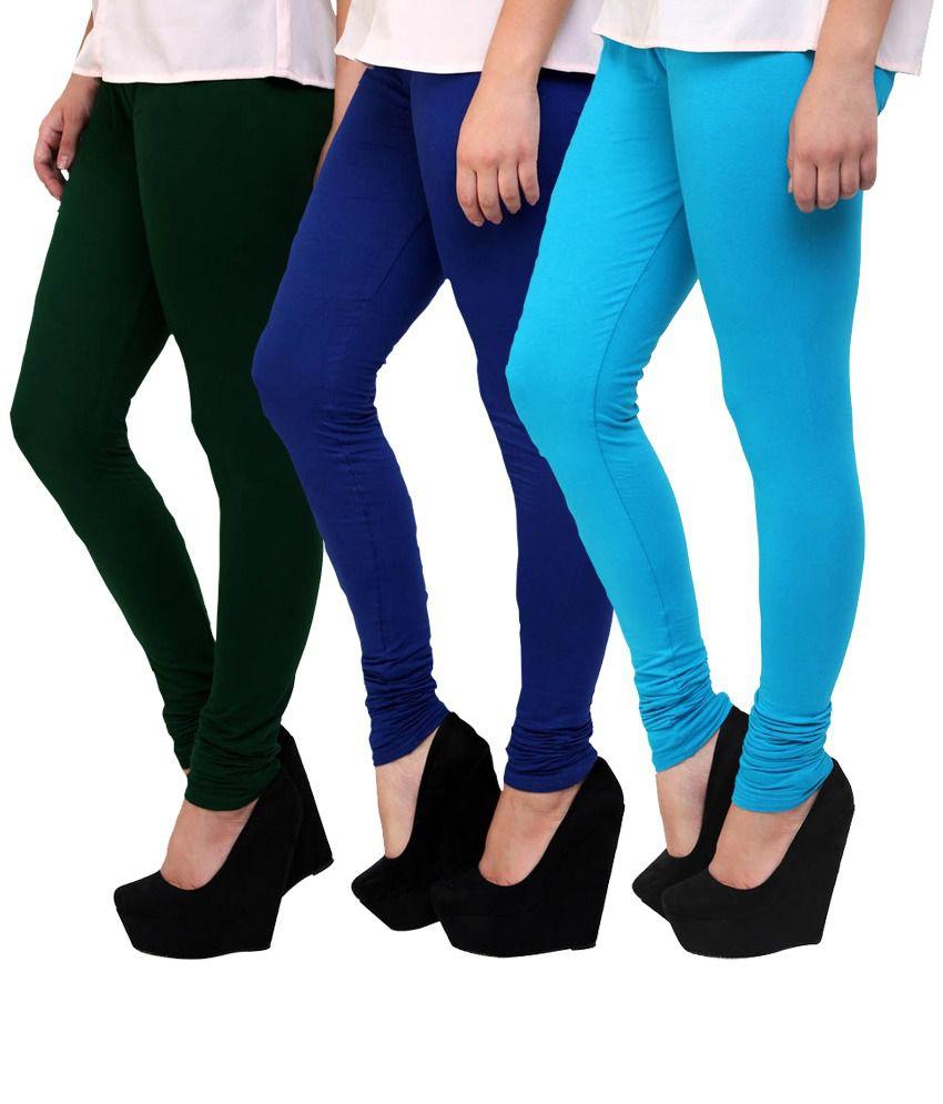 Famaya Multi Color Cotton Leggings