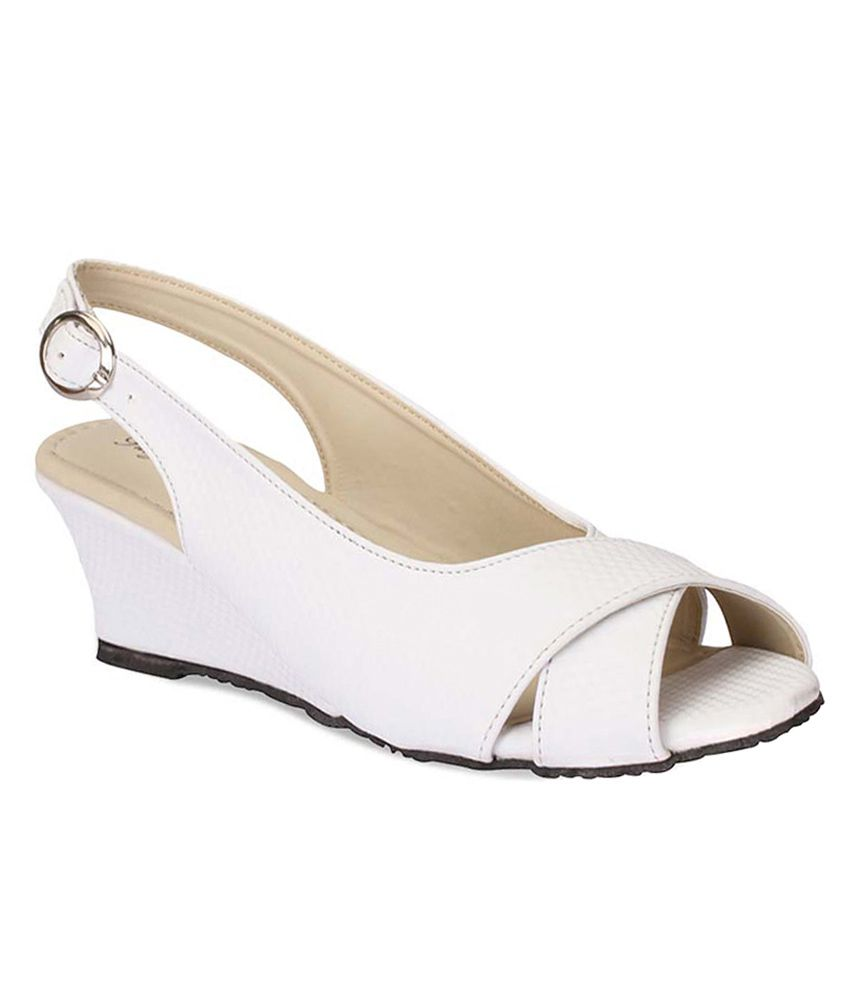e65f6c86480 Party Girl White Medium Heel Peep Toe Heeled Sandals Price in India- Buy  Party Girl White Medium Heel Peep Toe Heeled Sandals Online at Snapdeal