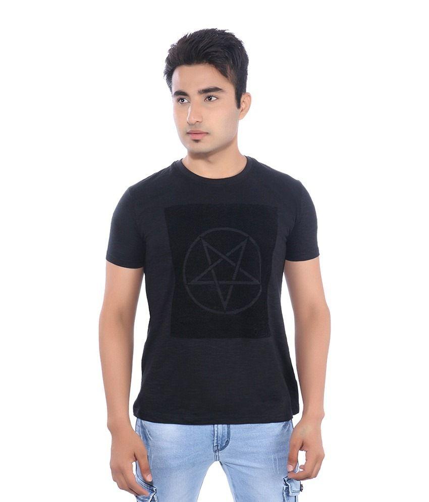 Pavitra Paapi Black Cotton T Shirt