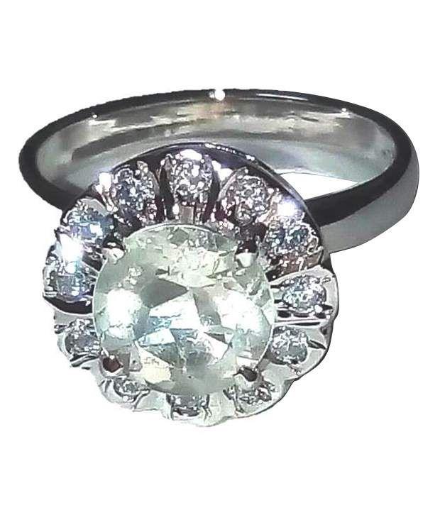 Asz Gems Silver White Tourmalin Ring