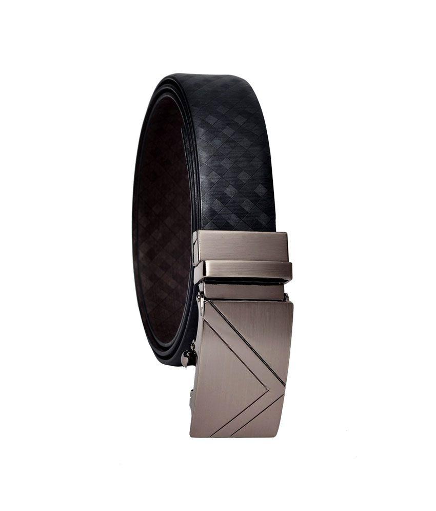 Hawai Black Leather Belt