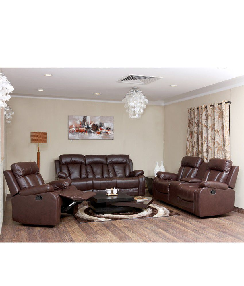 magna recliner sofa set 3 2 1 buy magna recliner sofa set 3 2 1 online at best prices in india