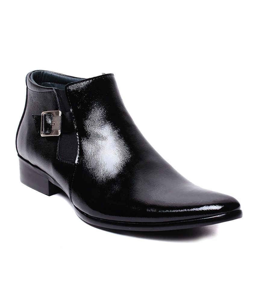 Darcey Black Synthetic Leather Men's Boots