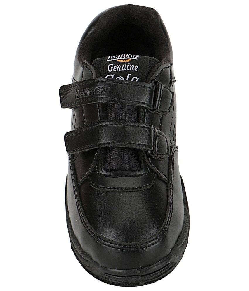 Black Faux leather School Shoes