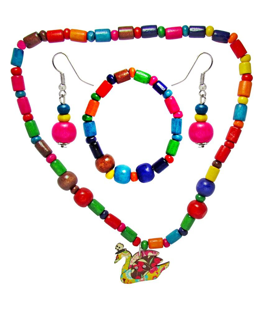 Jewelz Smiley Collection Kids Necklace Set