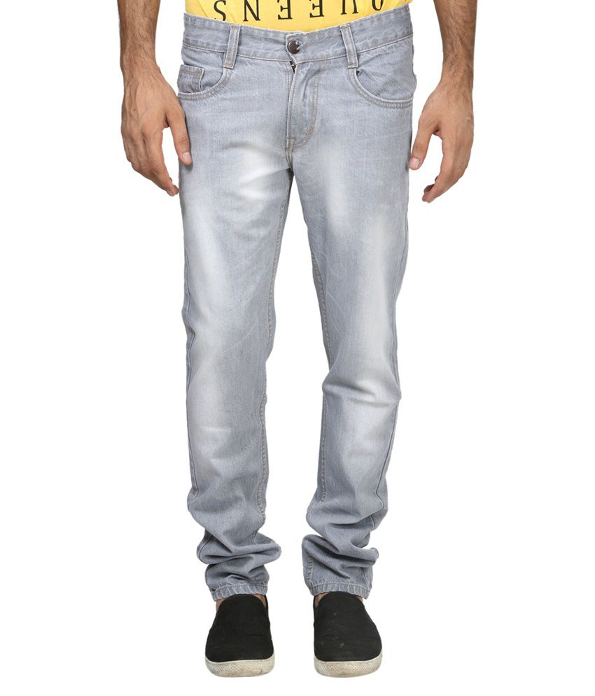 Trendy Trotters Cotton Non-Stretchable Dark Grey Denim Jeans
