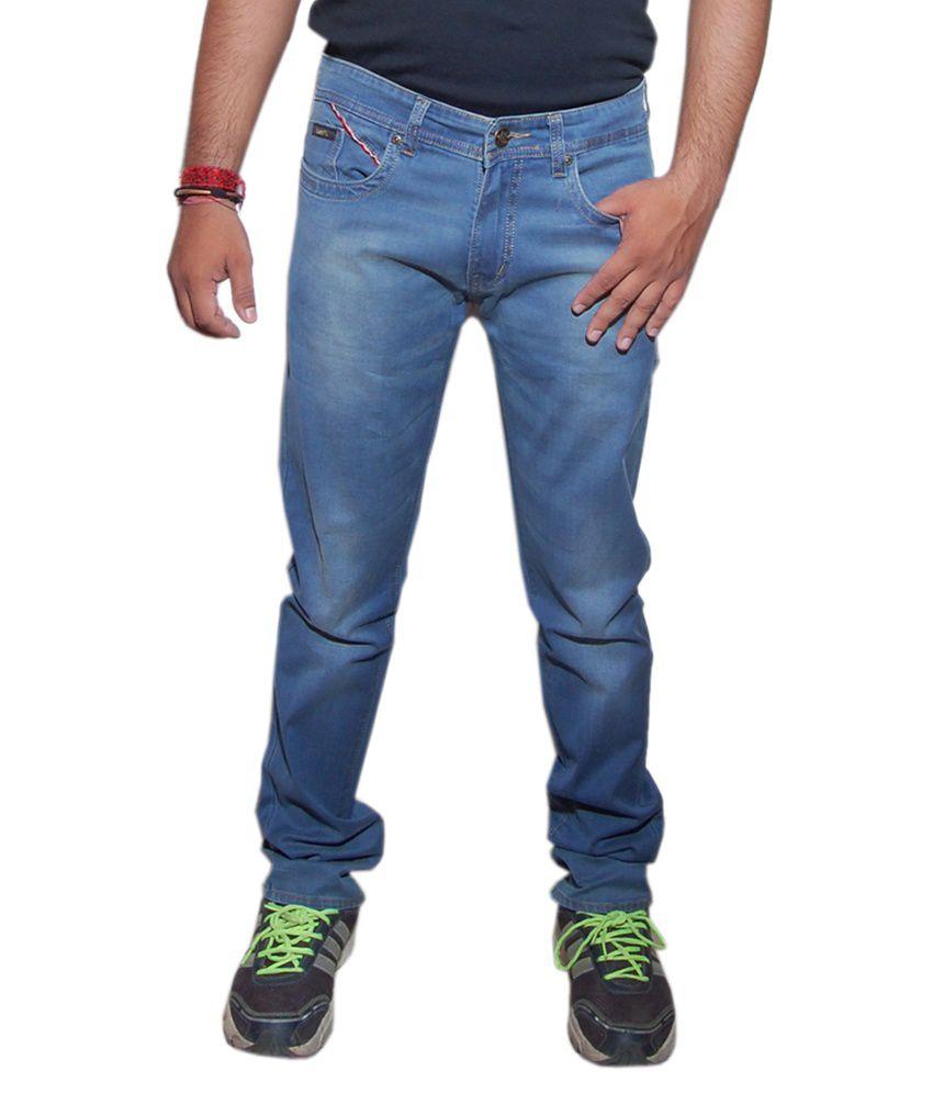 Wrangler Blue Cotton Blend Jeans