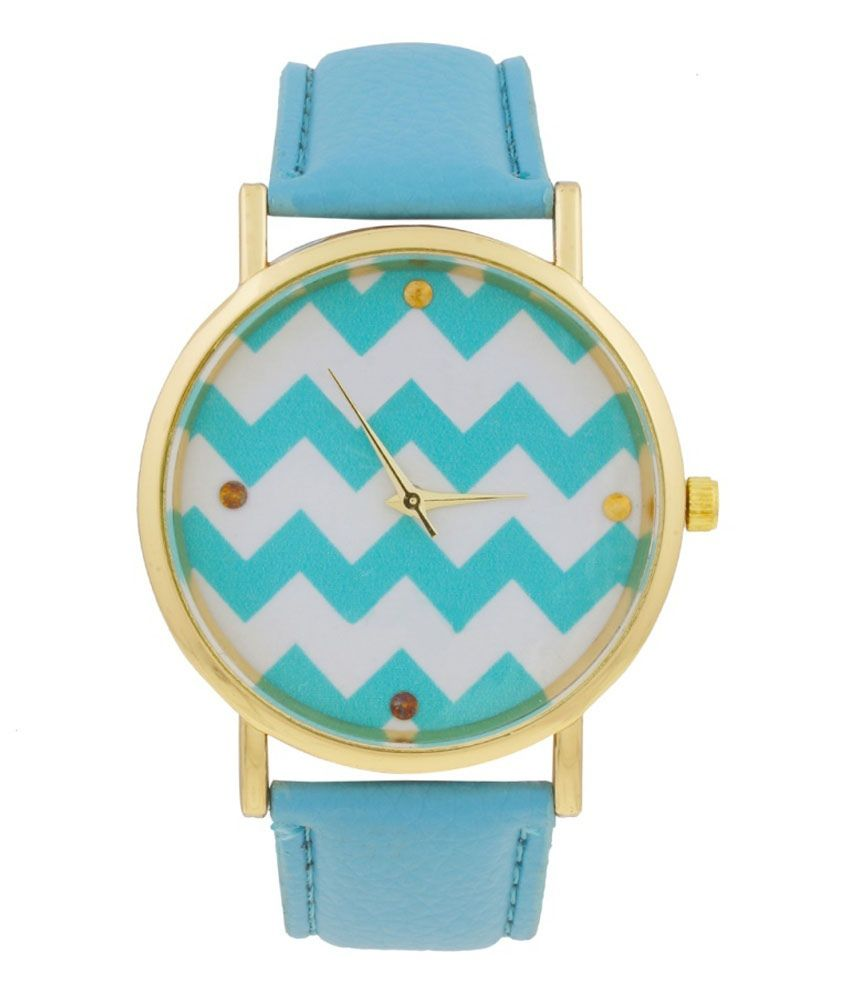 iBumpio Blue Casual Analog Watch For Women