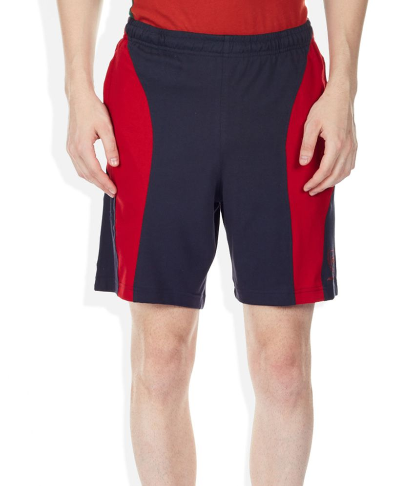 2go Navy Blue Solid Shorts
