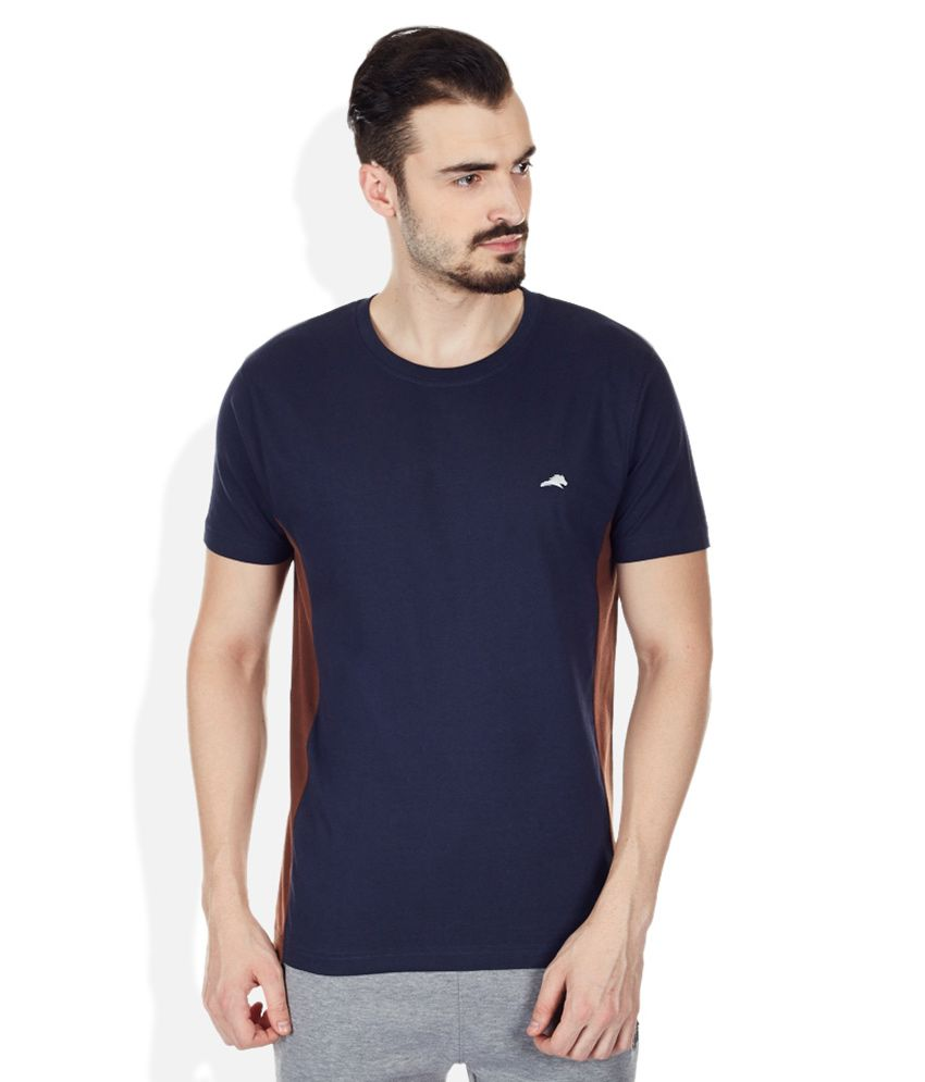 2go Navy Round Neck T Shirt