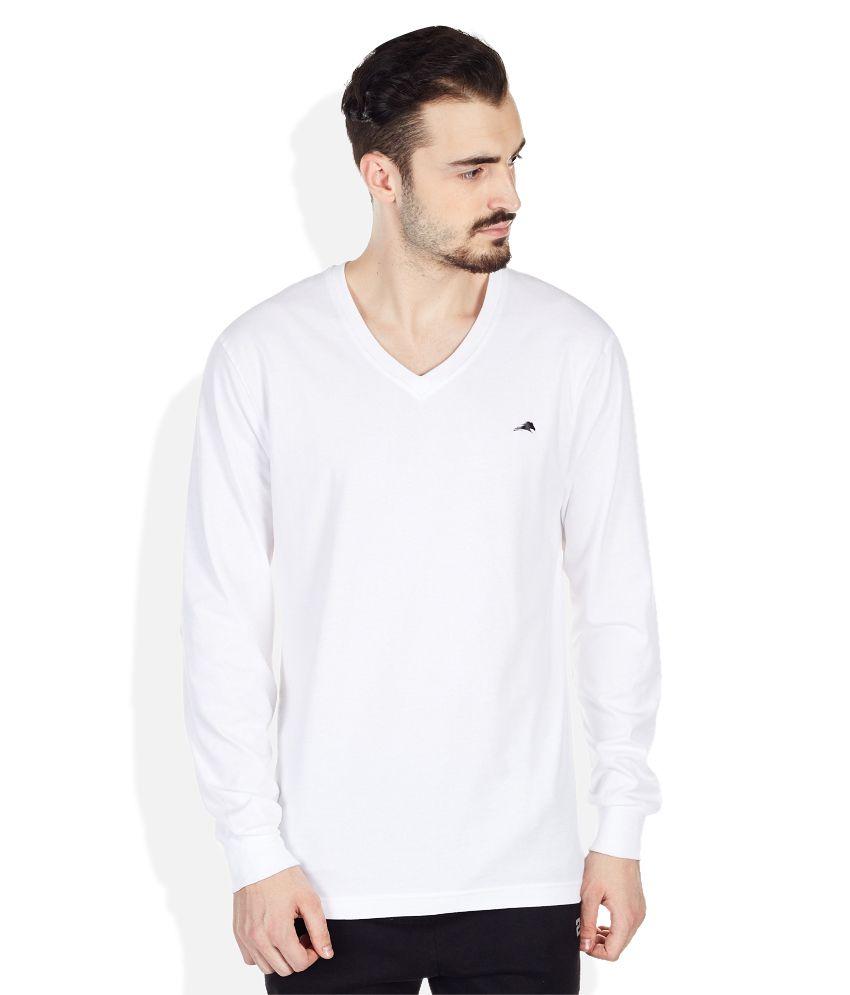 2go White V-Neck T Shirt