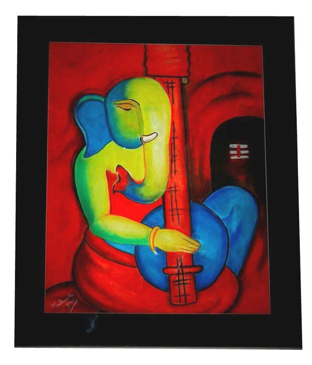 Artshaala Ganesha Abstract Painting