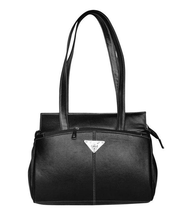 Bueva Black P.U. Shoulder Bag