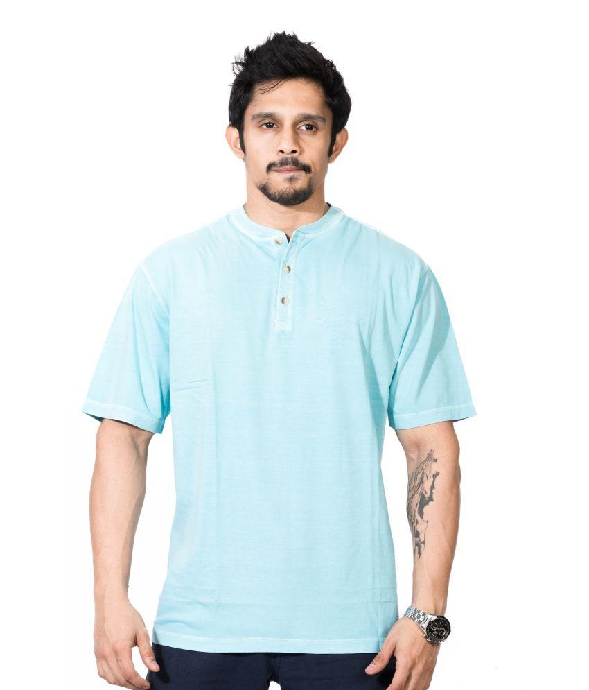 Dream Of Glory Inc. Blue Cotton T-shirt