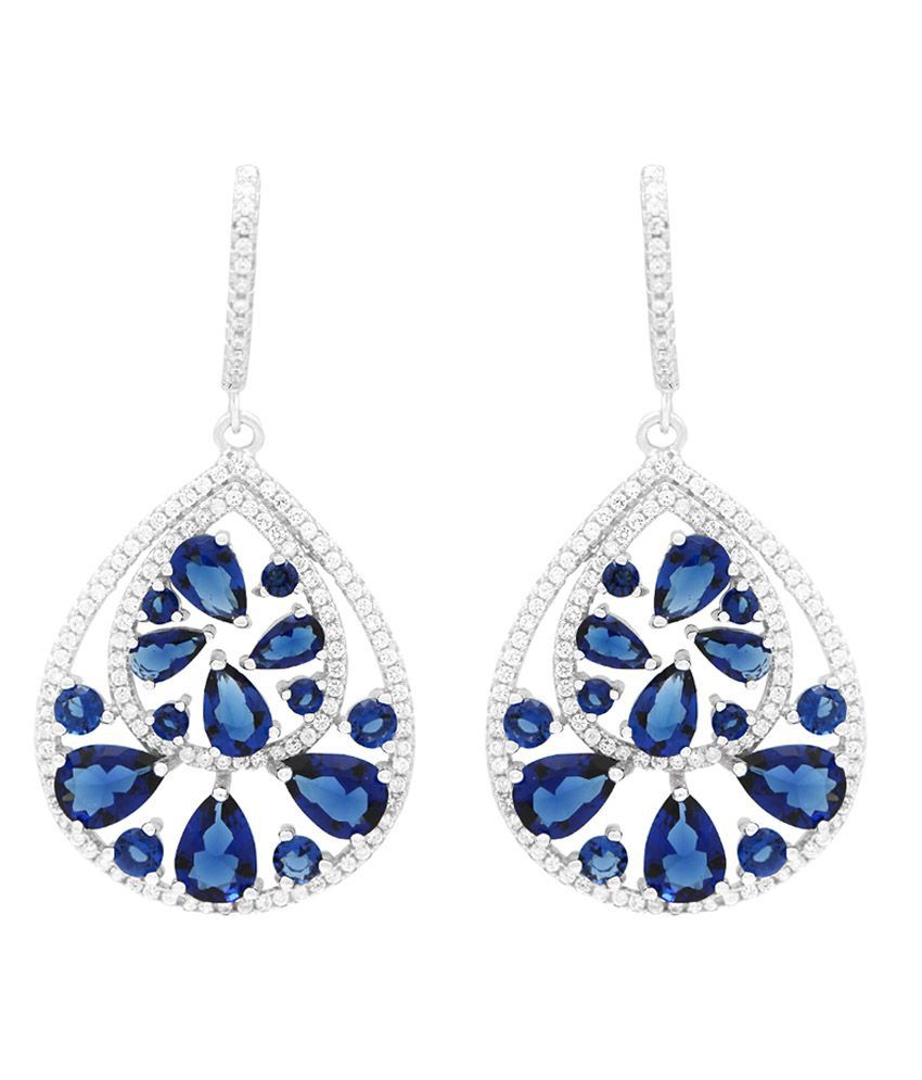 Gemtogems Silver 92.5 Sterling Silver Attractive Earrings
