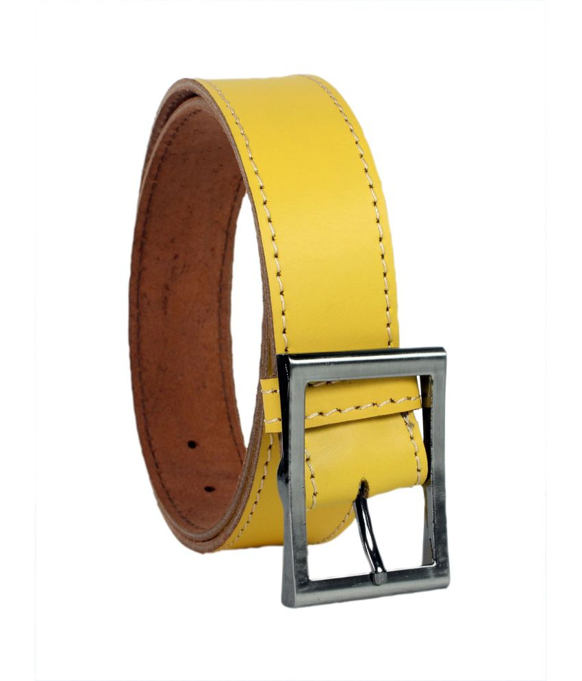 Revo Yellow Single Belt For Men