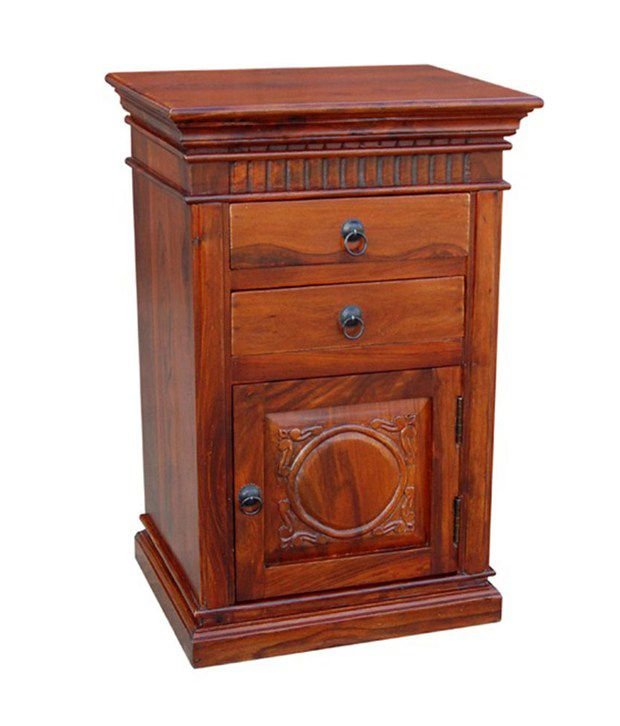 Sheesham Wood Bedside Table with Drawers