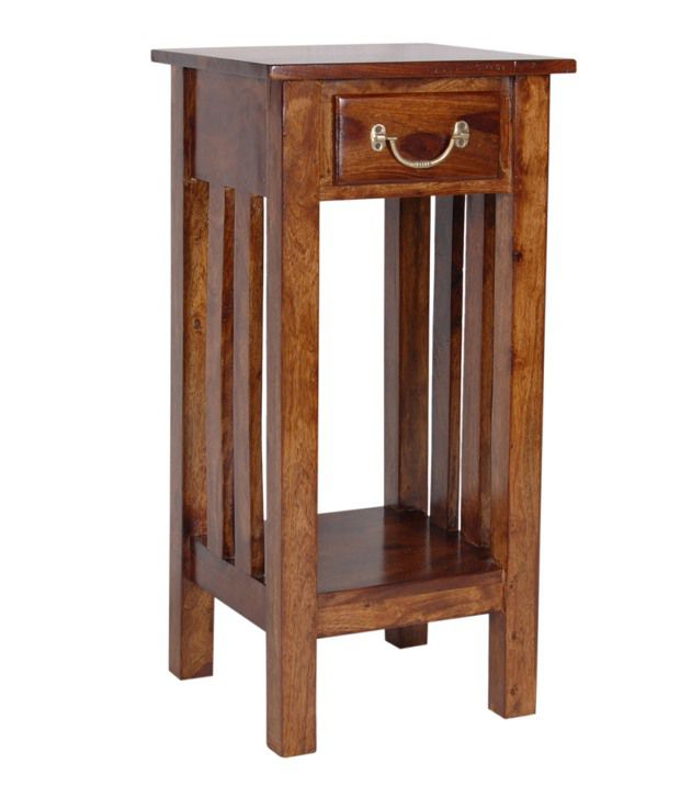 Solid Wood End Table with Drawer