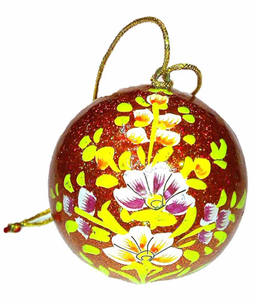 Kashmir Handicrafts Paper Mache Decor Ball Buy Kashmir Handicrafts