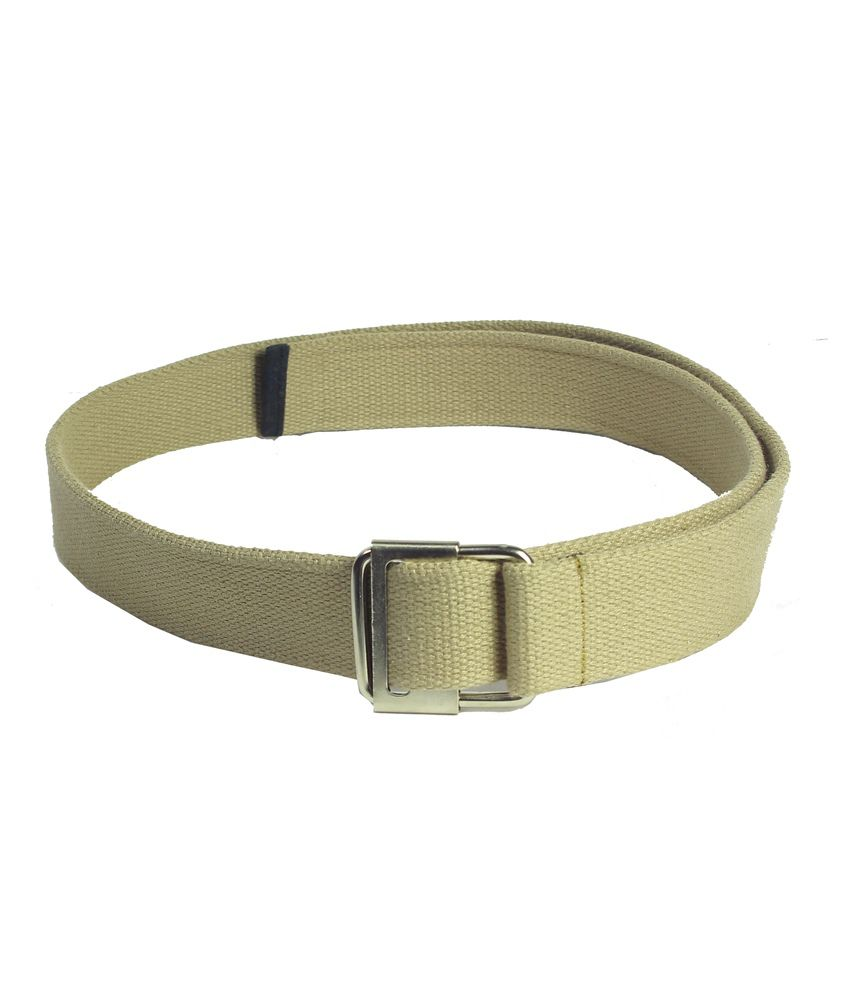 Revo Beige Canvas Casual Belt For Men