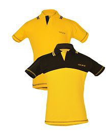 Goodway Multicolour Cotton Half Sleeves Polo T-Shirt - Pack of 2