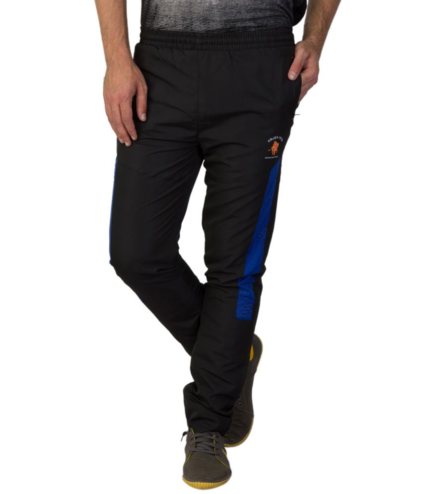 Greenwich United Polo Club Black Polyester Trackpants