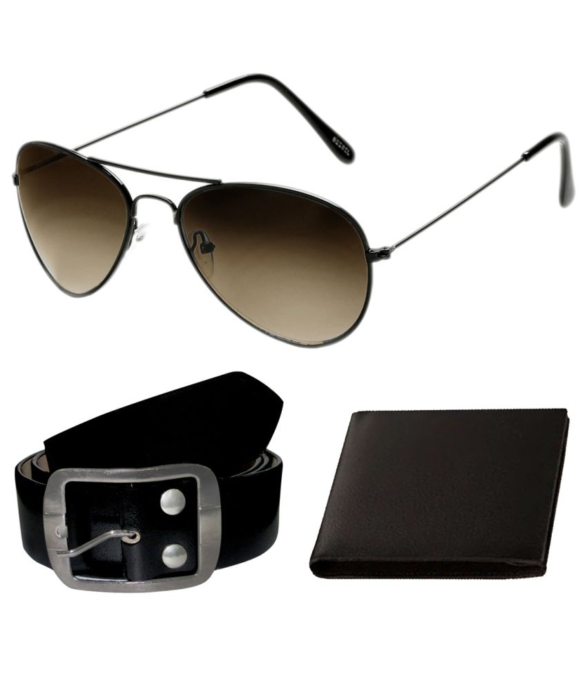 Jebbers Combo Of Belt, Wallet And Sunglasses