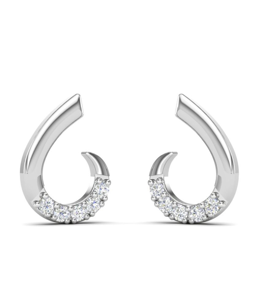 Theme Jewels Casual ER-0089, Certified Real Diamond & 14Kt Hallmarked White Gold Earring